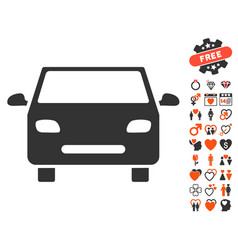 car icon with dating bonus vector image vector image