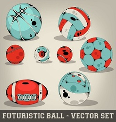 Futuristic Ball Set vector image