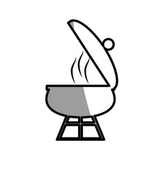 grill cooking food roasted picnic shadow vector image vector image