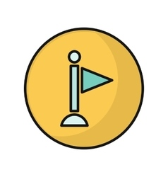 Information icon in flat style design vector
