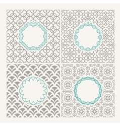 Thin line frames or emblems vector image vector image