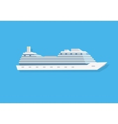 White Cruise Boat vector image vector image