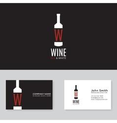 Wine logo template vector image vector image