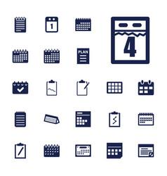 22 agenda icons vector