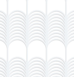3D white striped vertical grid vector image