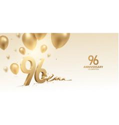 96th anniversary celebration background vector
