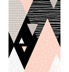 Abstract Geometric Landscape vector image