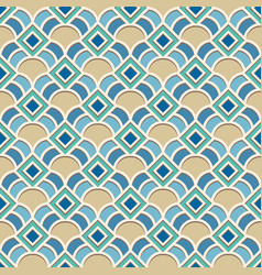 Abstract geometric pattern in arabic style vector