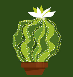 abstract green cactus element for cards and prints vector image