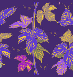 Abstract purple vine liana leaves hops vector