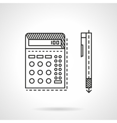 Accounting flat line icon vector image