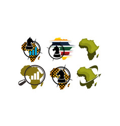 african business development specialists set vector image