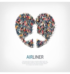 airplane people symbol vector image