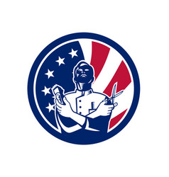American barber usa flag icon vector