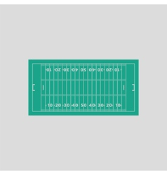 American football field mark icon vector image