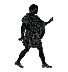 ancient roman warrior vector image