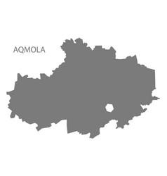 Aqmola kazakhstan map grey vector