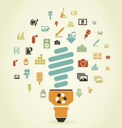 Art a bulb3 vector image