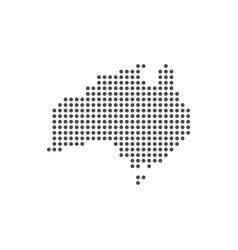 australia grey dotted world map flat design vector image