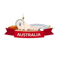 australia tourism travelling vector image