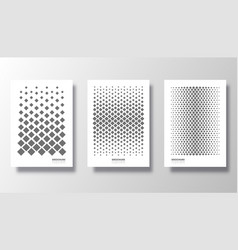 background with rhombus pattern set design vector image