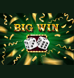 biw win gold design prize for casino jackpot vector image