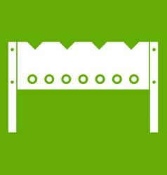 brazier icon green vector image