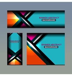 Business banner color design vector
