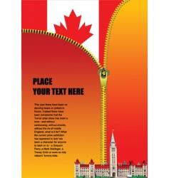 Canadian zipper vector