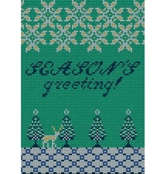 Christmas sweater 27 vector image