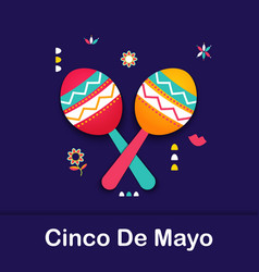 cinco de mayo mexican festive banner poster of vector image