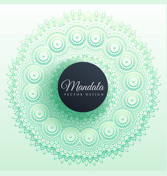 Colorful mandala decoration background design vector