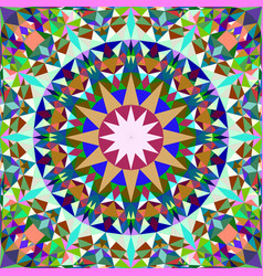 Colorful seamless abstract triangle mosaic tile vector