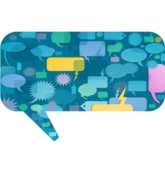 communication bubbles design vector image