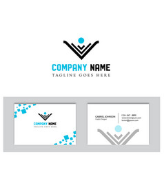 company logo image with business card template vector image