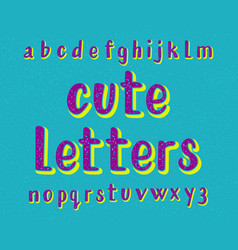 cute letters typeface cartoon font isolated vector image