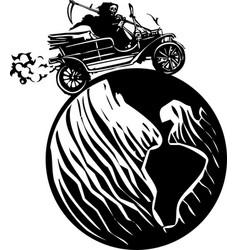 Death driving around world vector