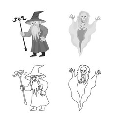 Design mystic and hell symbol vector
