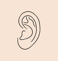 Ear human vector