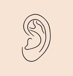 ear human vector image