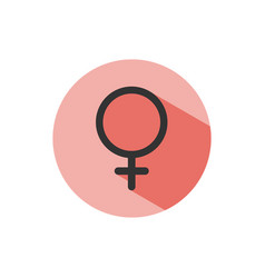 female symbol with shade on a red circle science vector image