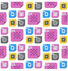 file types and formats seamless pattern background vector image