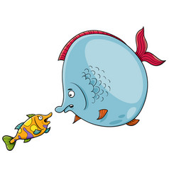 Fish talking cartoon vector