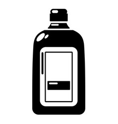 flat bottle icon simple style vector image