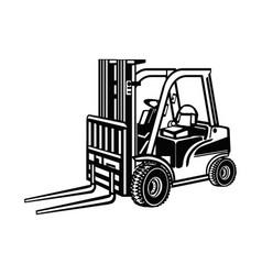 Fork lift forklift warehouse - construction vector