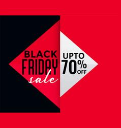 geometric style black friday creative sale banner vector image