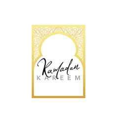 Gold Design Arab windows for Ramadan Kareem vector image