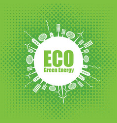 green eco banner of alternative energy sources vector image