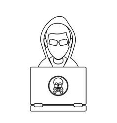 Hacker representation icon image vector