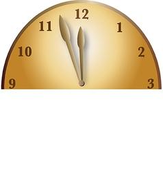 Half bronze clock vector